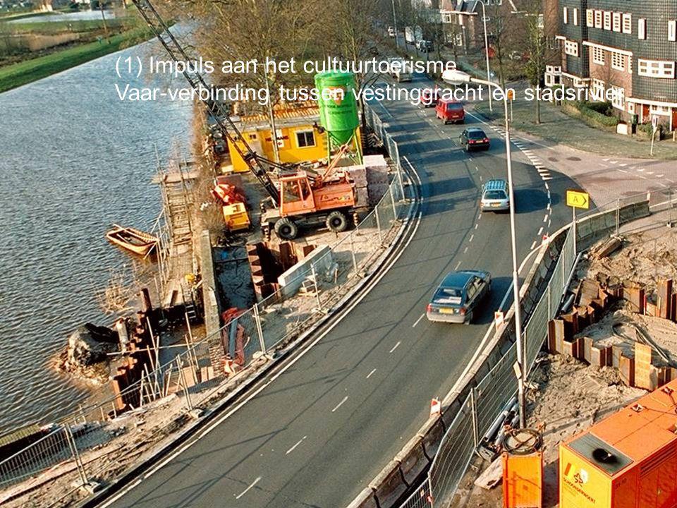 (1) Impuls aan het cultuurtoerisme Vaar-verbinding tussen vestinggracht en stadsrivier