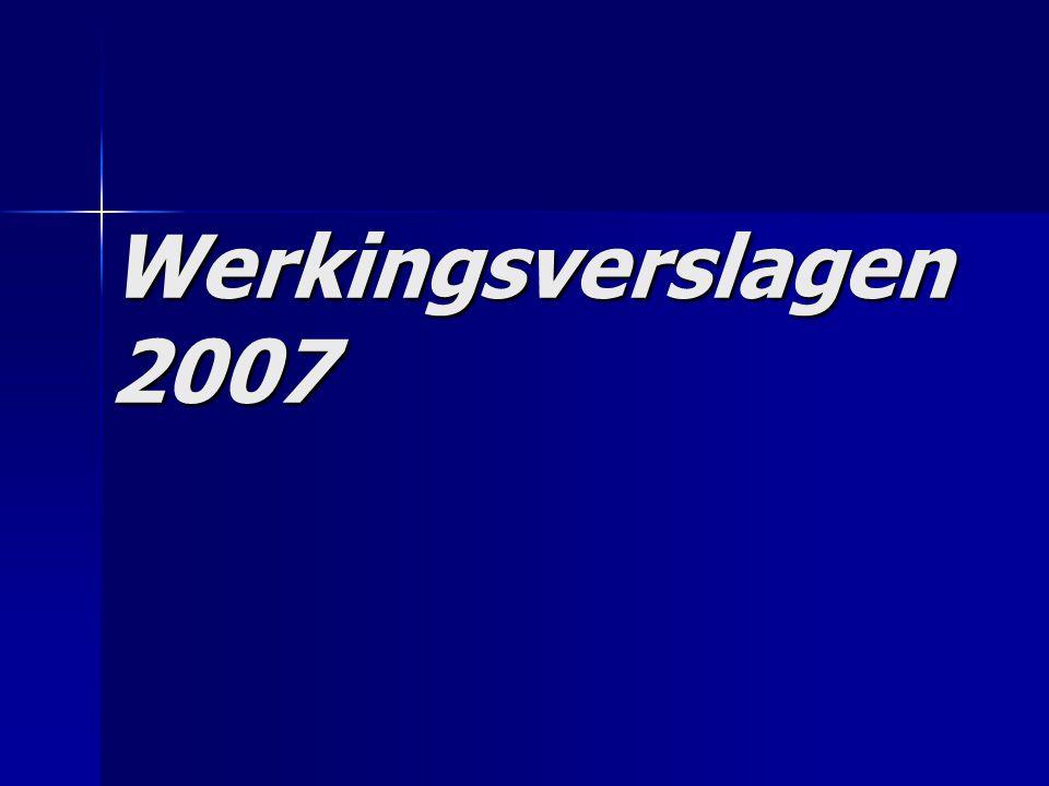 Werkingsverslagen 2007