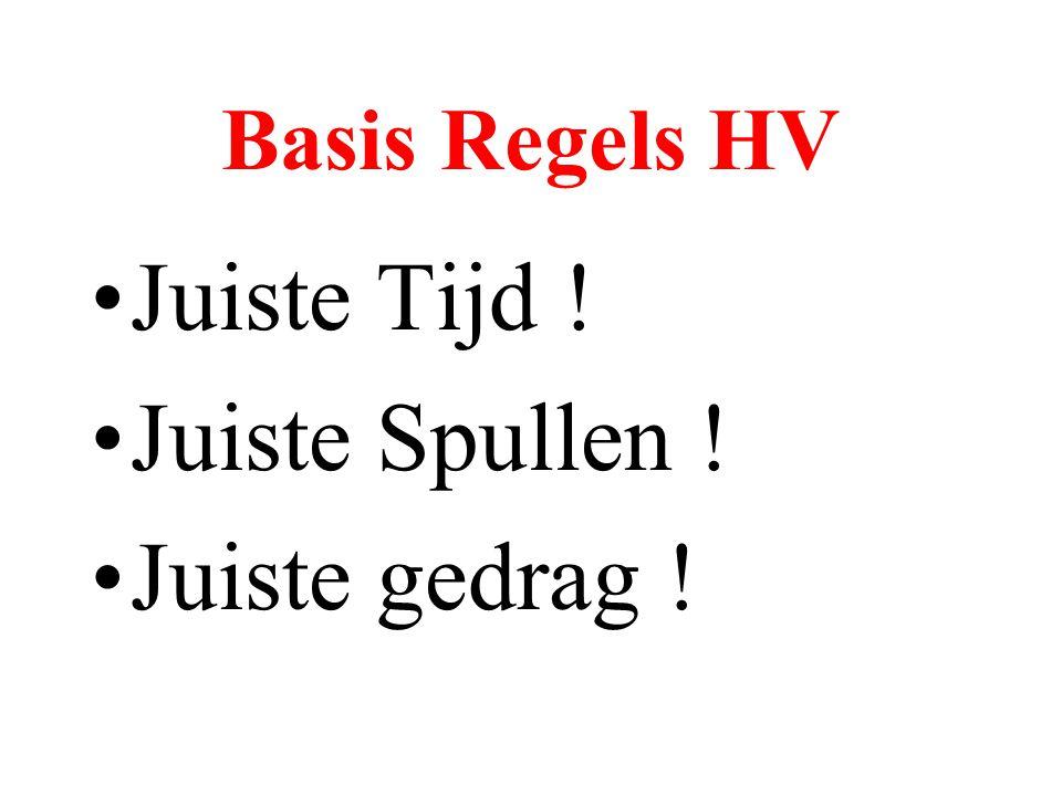 Basis Regels HV •Juiste Tijd ! •Juiste Spullen ! •Juiste gedrag !