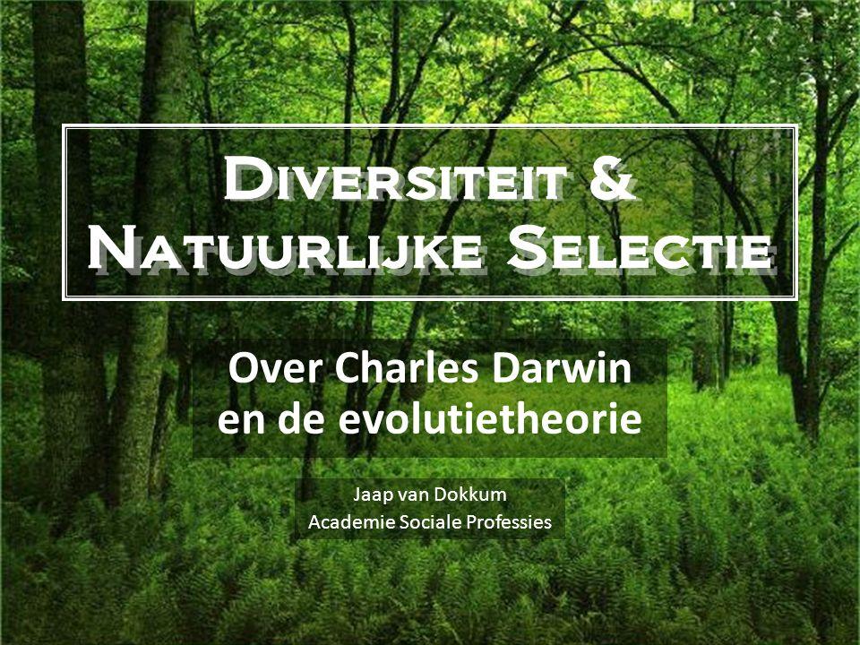 Diversiteit & Natuurlijke Selectie Over Charles Darwin en de evolutietheorie Jaap van Dokkum Academie Sociale Professies