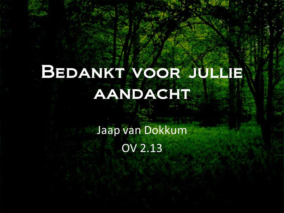 Bedankt voor jullie aandacht Jaap van Dokkum OV 2.13