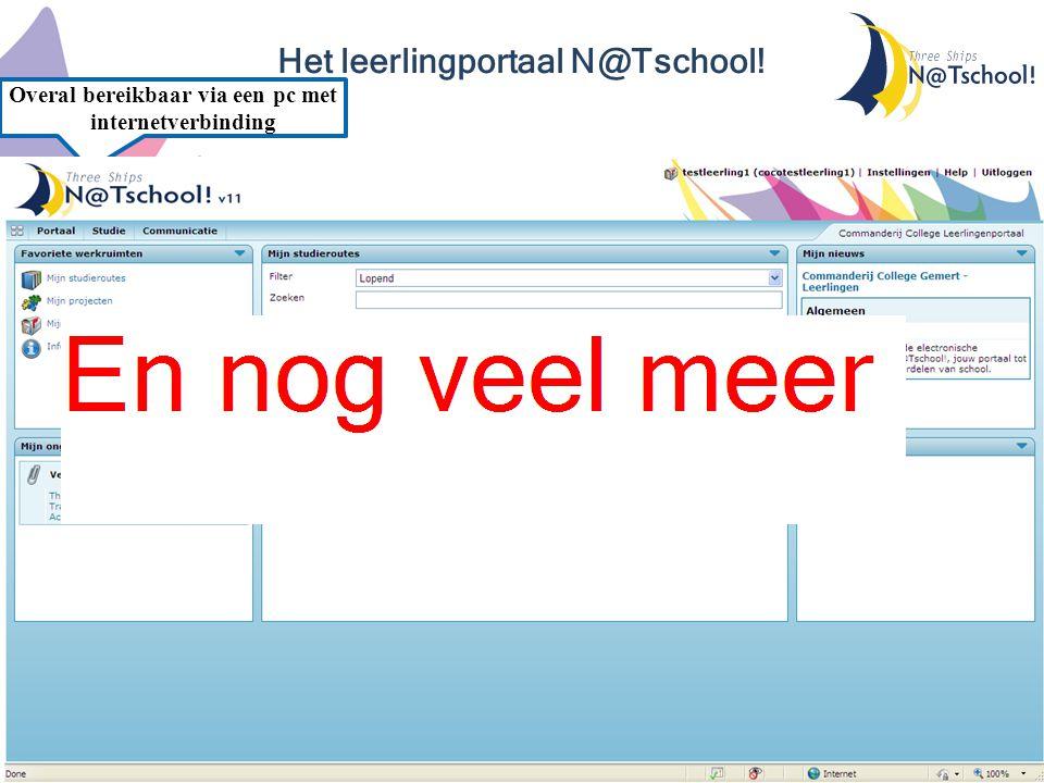 Het leerlingportaal N@Tschool! Snelle toegang tot al je mailberichten Je digitale lesmethode snel en eenvoudig gevonden en te openen Belangrijke beric