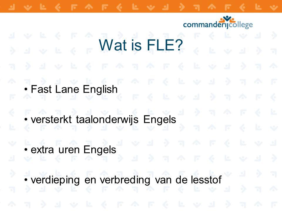Waarom FLE? • vervolgopleidingen • vakliteratuur • regionale bedrijfsleven • staat goed op je CV