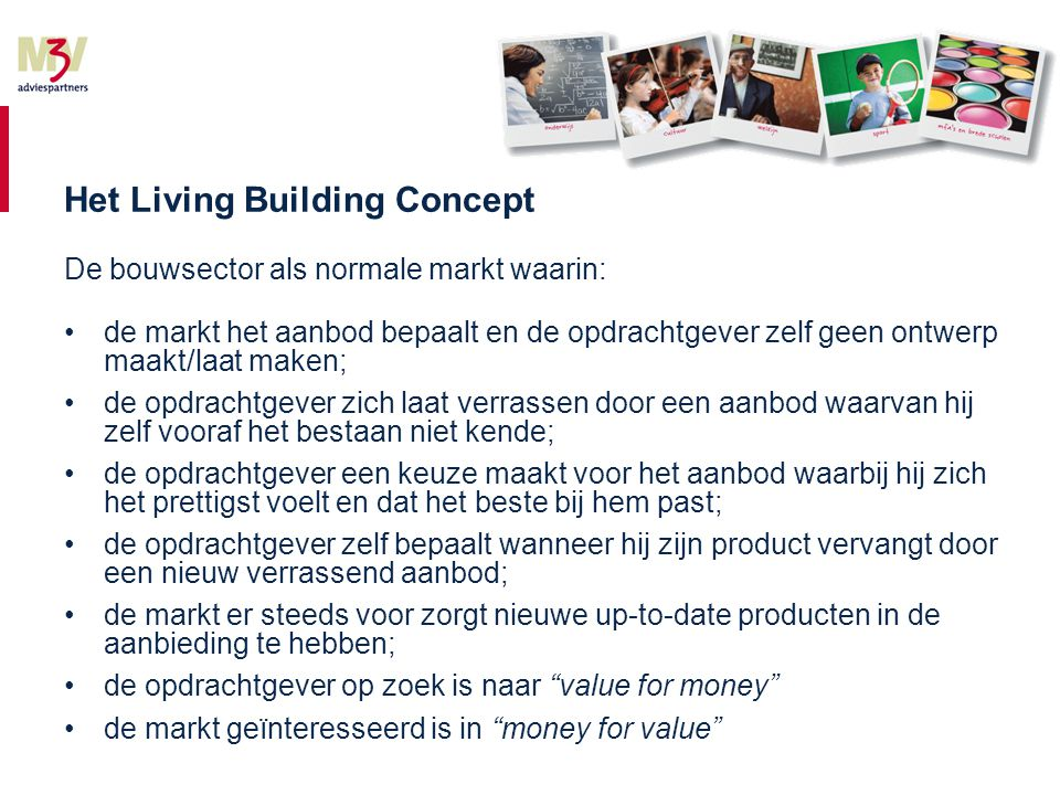 Wat is living .Levend wil zeggen 'aanpasbare en waarde creërende gebouwen'.