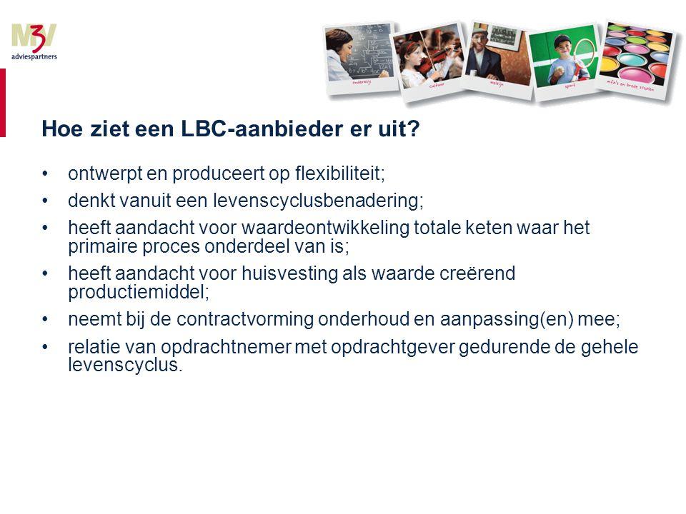 Hoe ziet een LBC-aanbieder er uit.
