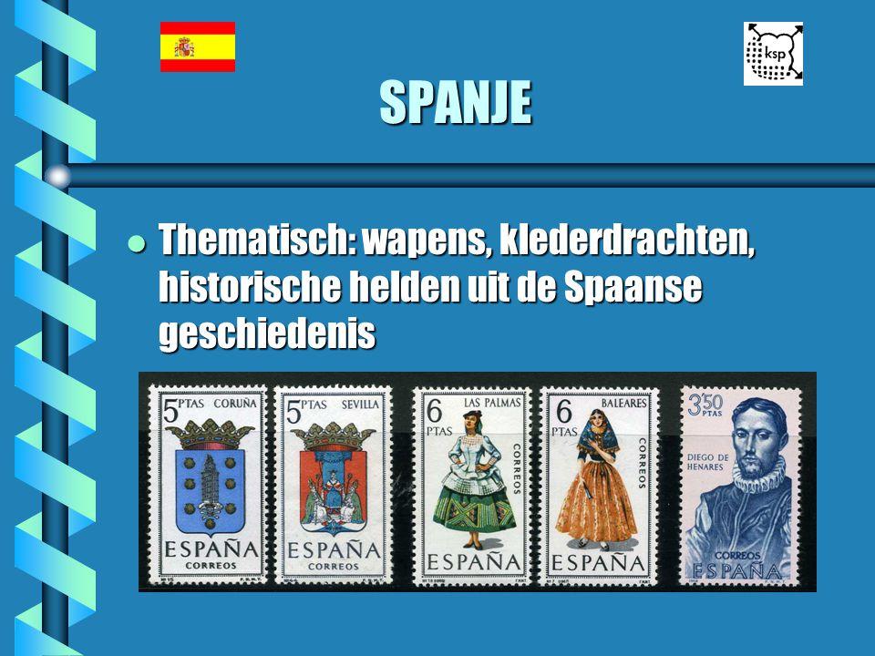 SPANJE l Thematisch: wapens, klederdrachten, historische helden uit de Spaanse geschiedenis