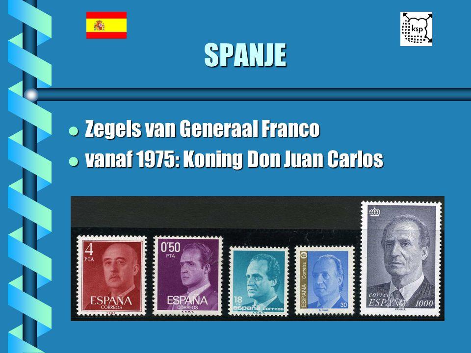 SPANJE l Zegels van Generaal Franco l vanaf 1975: Koning Don Juan Carlos