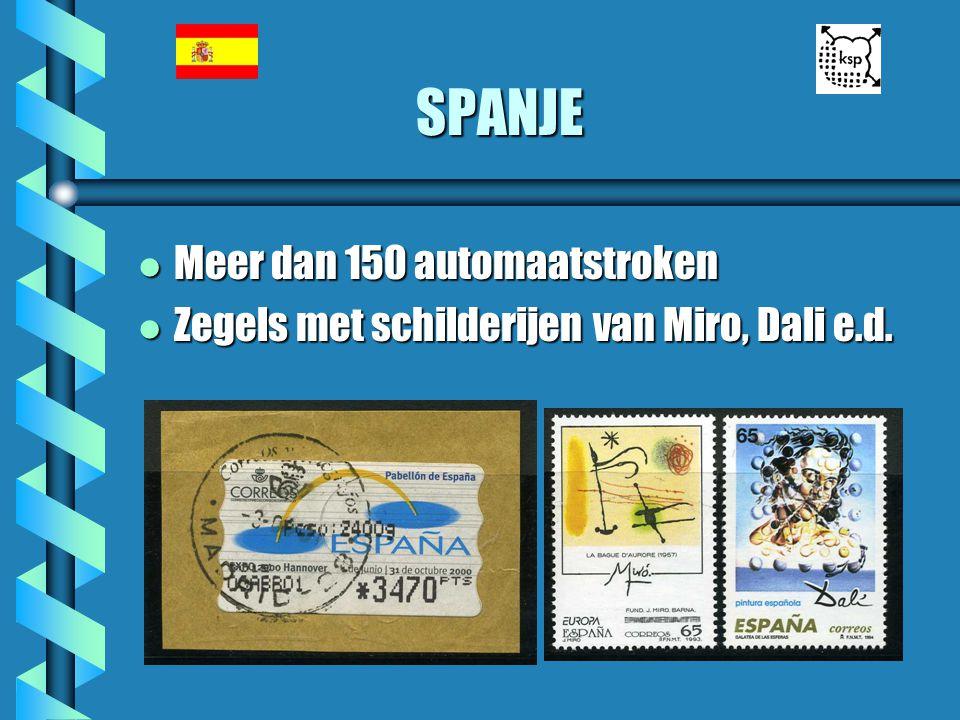 SPANJE l Meer dan 150 automaatstroken l Zegels met schilderijen van Miro, Dali e.d.