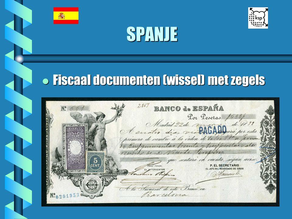 SPANJE l Fiscaal documenten (wissel) met zegels