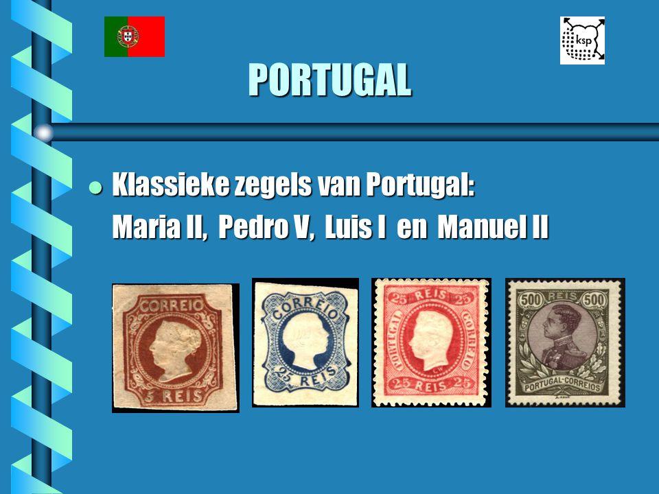 PORTUGAL l Klassieke zegels van Portugal: Maria II, Pedro V, Luis I en Manuel II