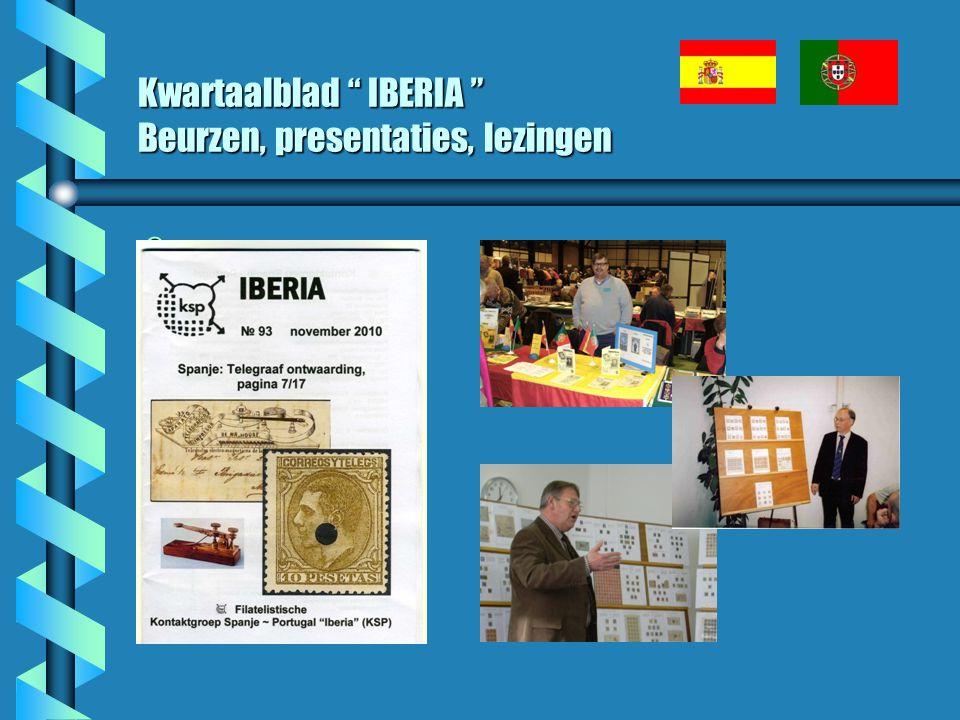 """Kwartaalblad """" IBERIA """" Beurzen, presentaties, lezingen b"""