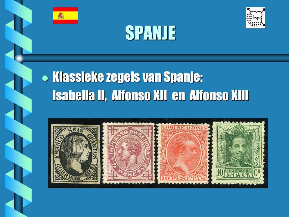 SPANJE l Klassieke zegels van Spanje: Isabella II, Alfonso XII en Alfonso XIII