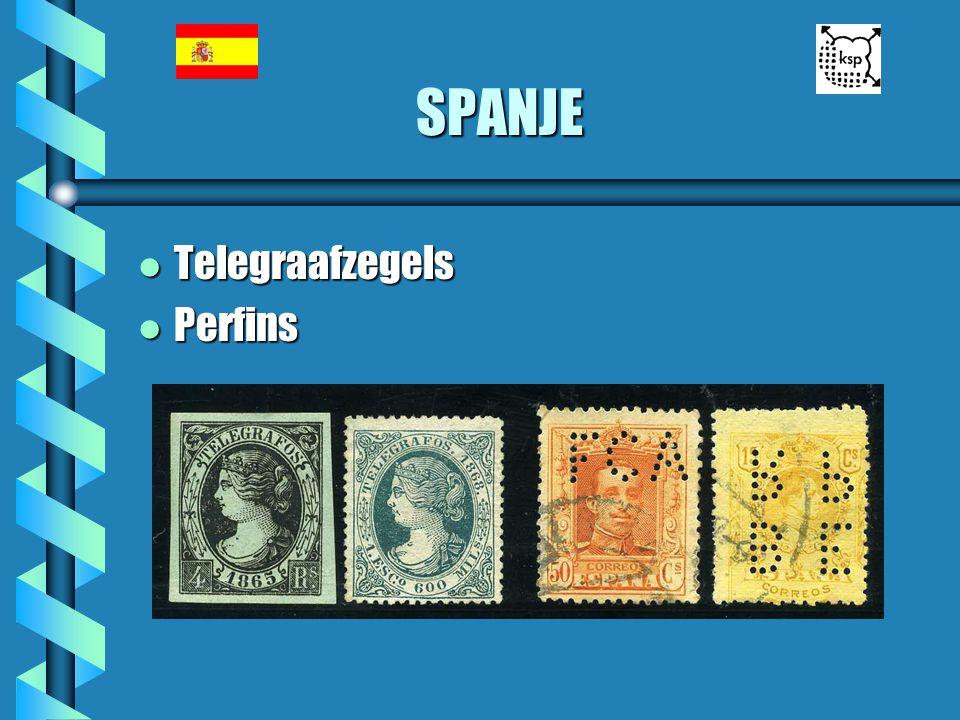 SPANJE l Telegraafzegels l Perfins