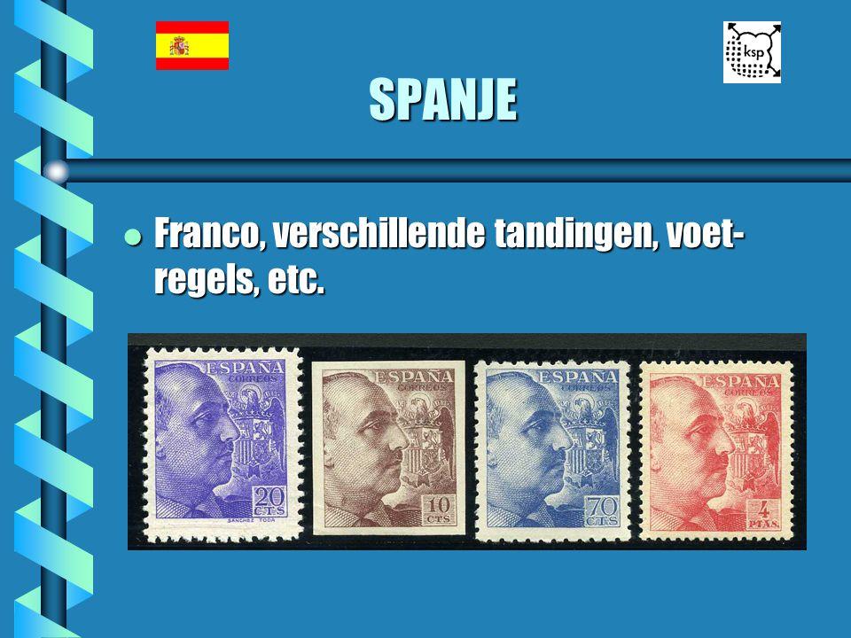 SPANJE l Franco, verschillende tandingen, voet- regels, etc.