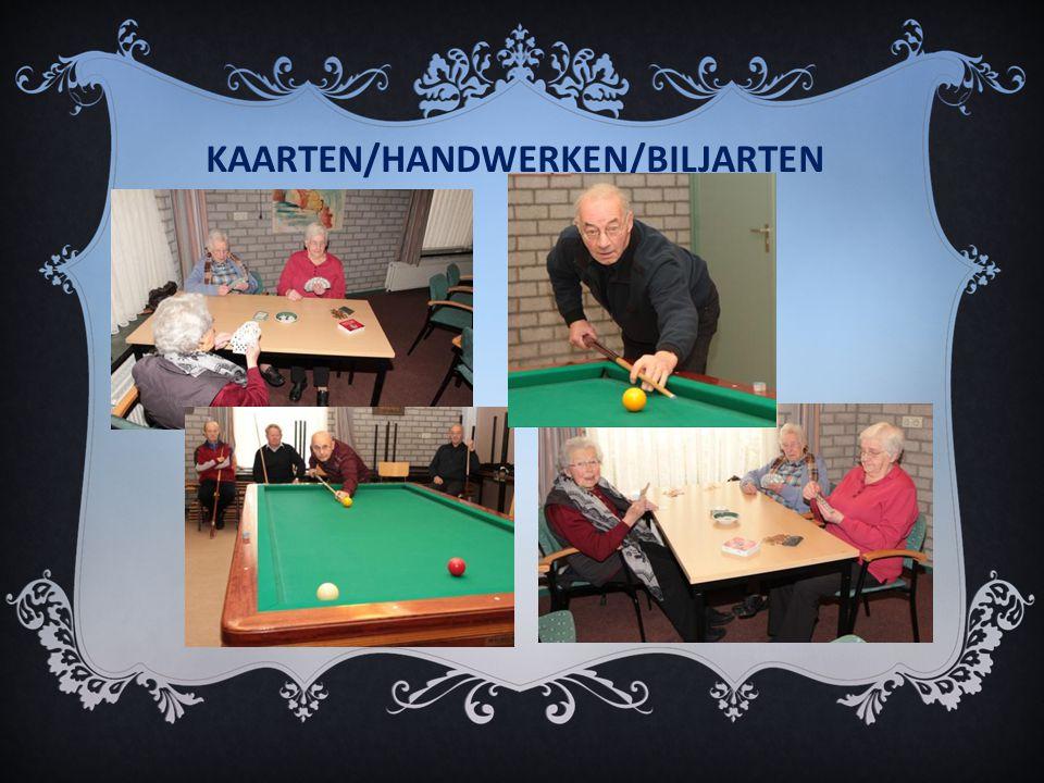 KAARTEN/HANDWERKEN/BILJARTEN