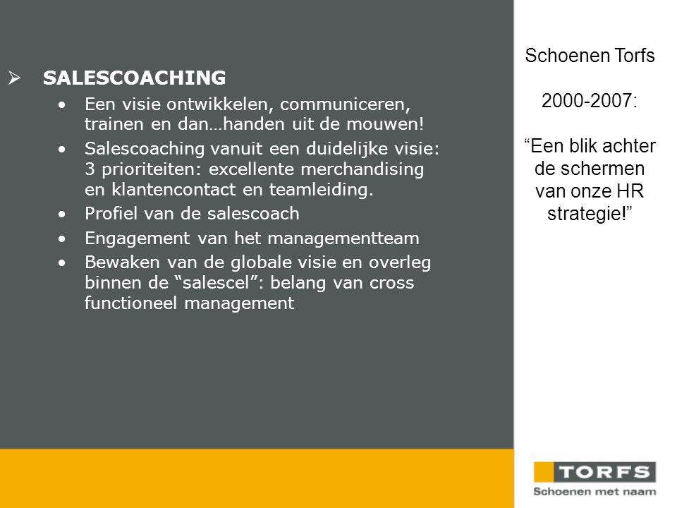  SALESCOACHING •Een visie ontwikkelen, communiceren, trainen en dan…handen uit de mouwen.