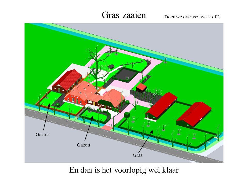 Gras zaaien Doen we over een week of 2 Gras Gazon Gazon En dan is het voorlopig wel klaar