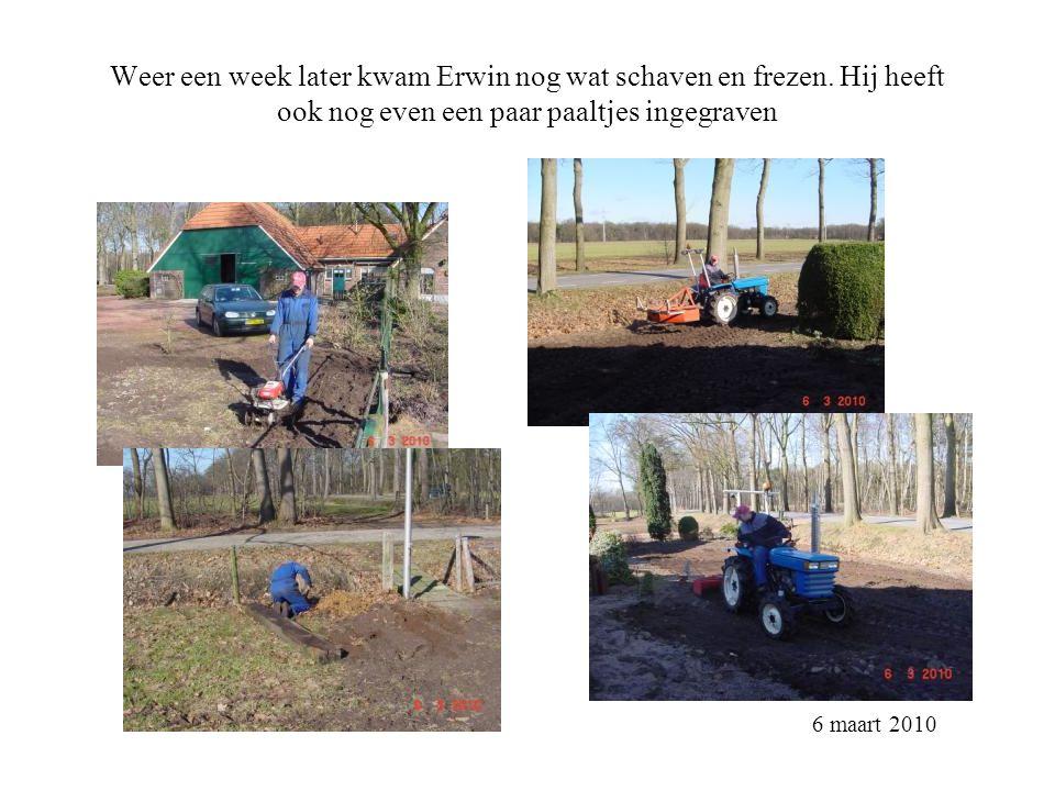5.Boomgaard 5 hoogstam fruitbomen Omzoomd door de Meidoorn heg 1.