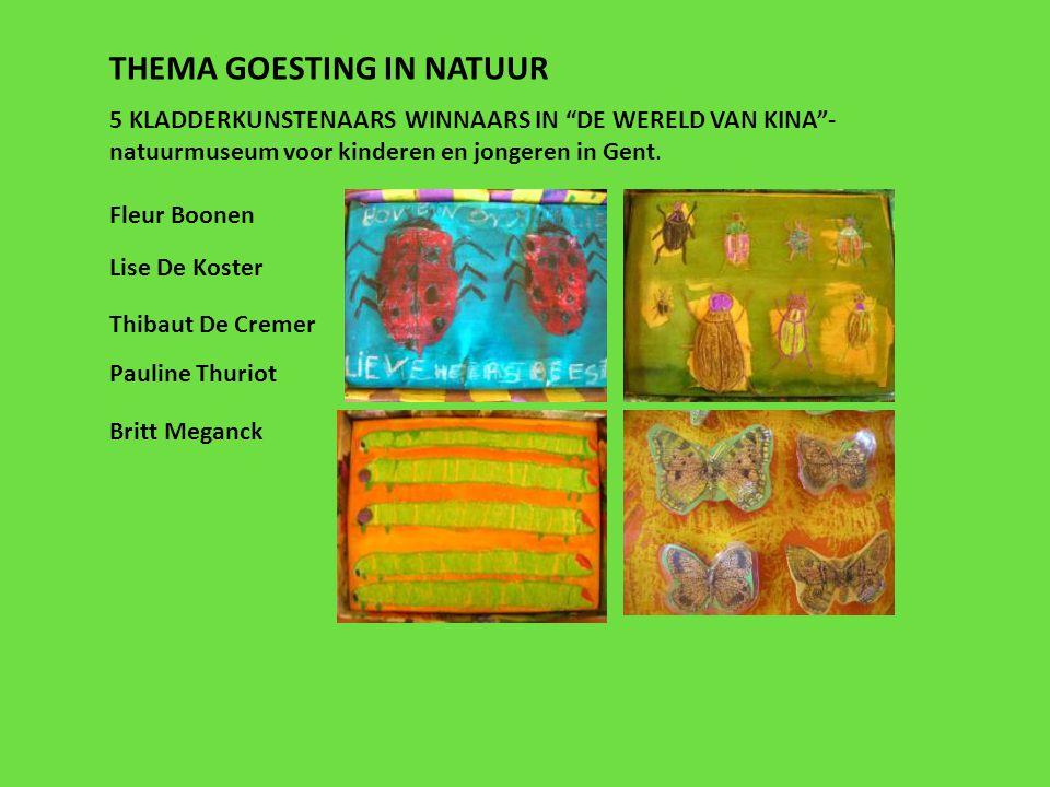 """5 KLADDERKUNSTENAARS WINNAARS IN """"DE WERELD VAN KINA""""- natuurmuseum voor kinderen en jongeren in Gent. Fleur Boonen Britt Meganck Lise De Koster Thiba"""
