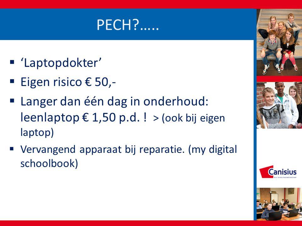 PECH?…..  'Laptopdokter'  Eigen risico € 50,-  Langer dan één dag in onderhoud: leenlaptop € 1,50 p.d. ! > (ook bij eigen laptop)  Vervangend appa