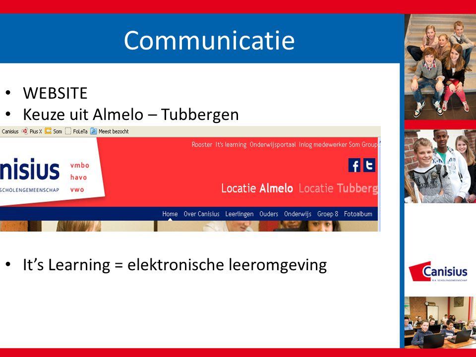 Communicatie • WEBSITE • Keuze uit Almelo – Tubbergen • It's Learning = elektronische leeromgeving