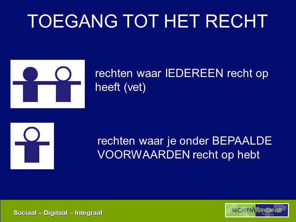 Sociaal – Digitaal – Integraal EN VERDER … Contactformulier Links Rechtenverkenner.be
