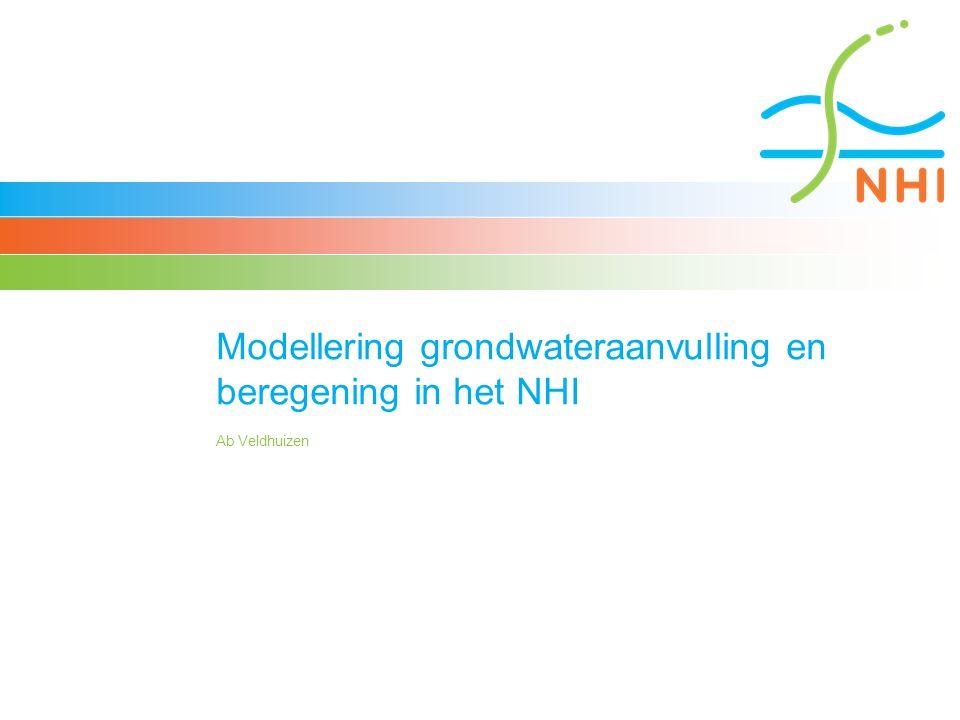 Modellering grondwateraanvulling en beregening in het NHI Ab Veldhuizen