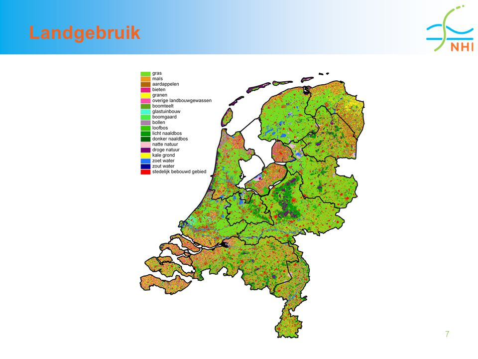 18 Verbeteringen onverzadigde zone tot 1 april  Concept + data voor verdamping van hoge gronden wordt verbeterd tbv de grondwateraanvulling  Bergingscoefficient wordt met 20 % gereduceerd tbv de dynamiek