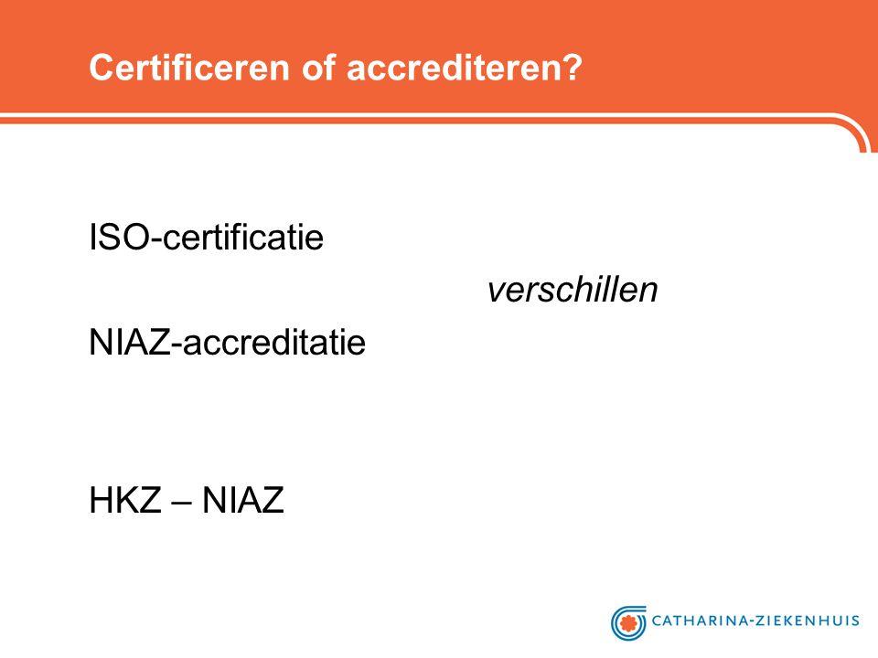 Certificeren of accrediteren? ISO-certificatie verschillen NIAZ-accreditatie HKZ – NIAZ