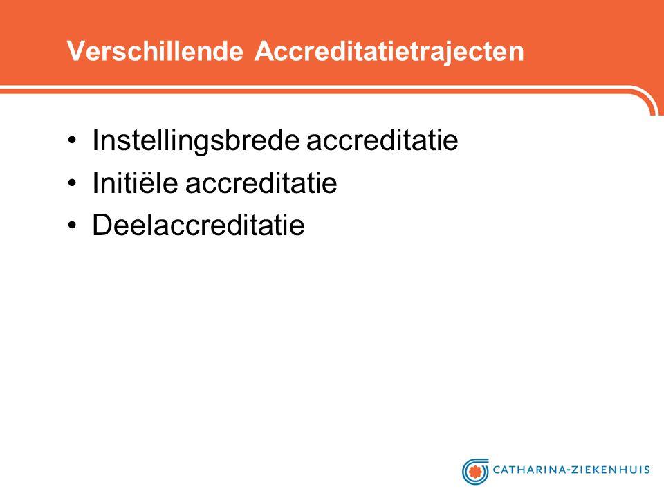 Verschillende Accreditatietrajecten •Instellingsbrede accreditatie •Initiële accreditatie •Deelaccreditatie