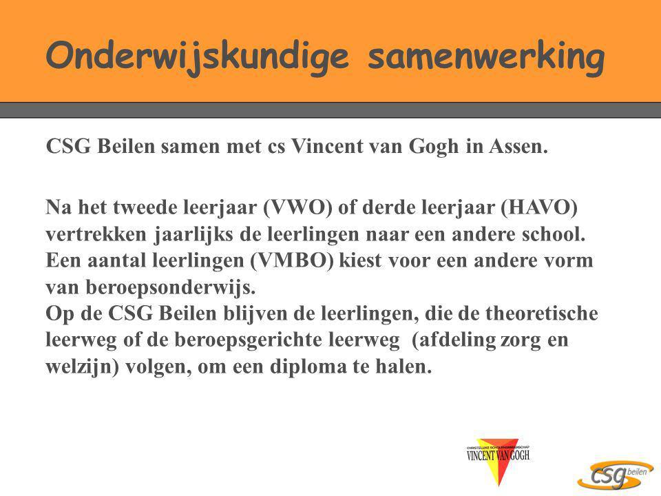 Na het tweede leerjaar (VWO) of derde leerjaar (HAVO) vertrekken jaarlijks de leerlingen naar een andere school. Een aantal leerlingen (VMBO) kiest vo