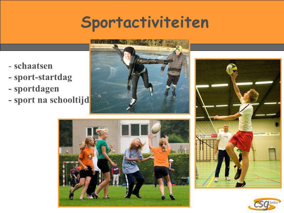 Sportactiviteiten - schaatsen - sport-startdag - sportdagen - sport na schooltijd