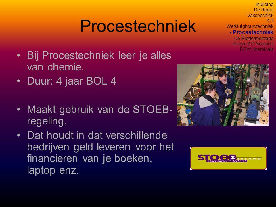 Procestechniek •Bij Procestechniek leer je alles van chemie.