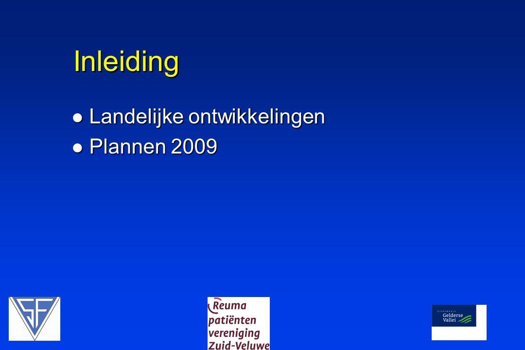 Inleiding  Landelijke ontwikkelingen  Plannen 2009