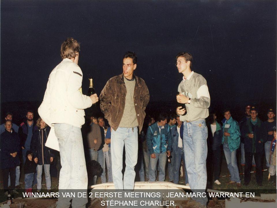 WINNAARS VAN DE 2 EERSTE MEETINGS : JEAN-MARC WARRANT EN STÉPHANE CHARLIER.