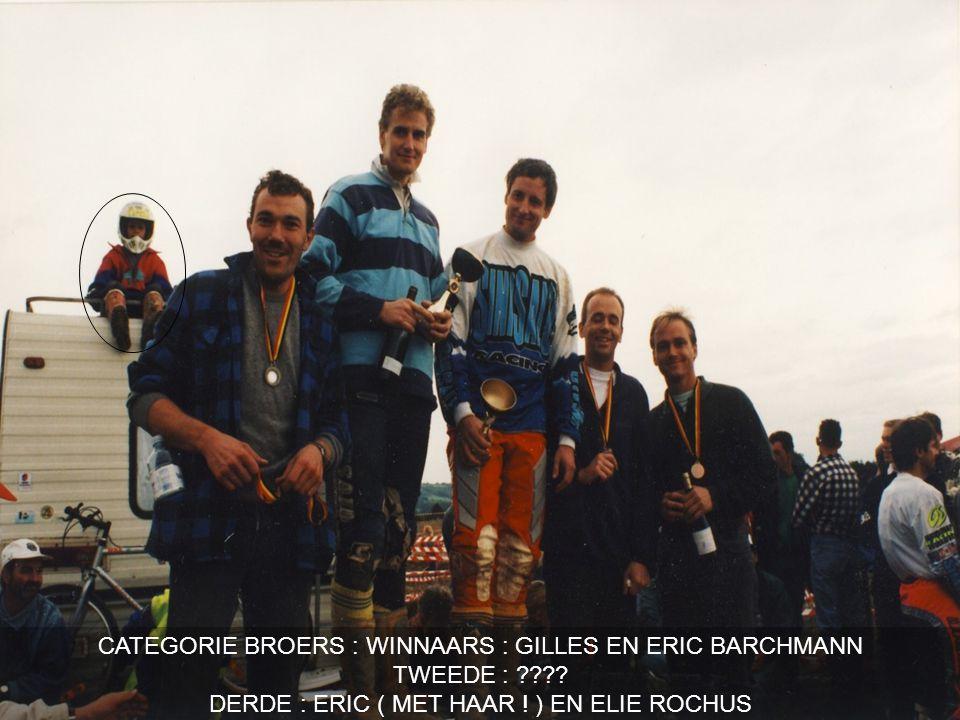 CATEGORIE BROERS : WINNAARS : GILLES EN ERIC BARCHMANN TWEEDE : .