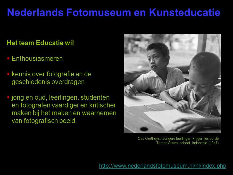 Het team Educatie wil:  Enthousiasmeren  kennis over fotografie en de geschiedenis overdragen  jong en oud, leerlingen, studenten en fotografen vaa