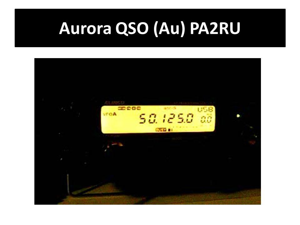 Aurora QSO (Au) PA2RU