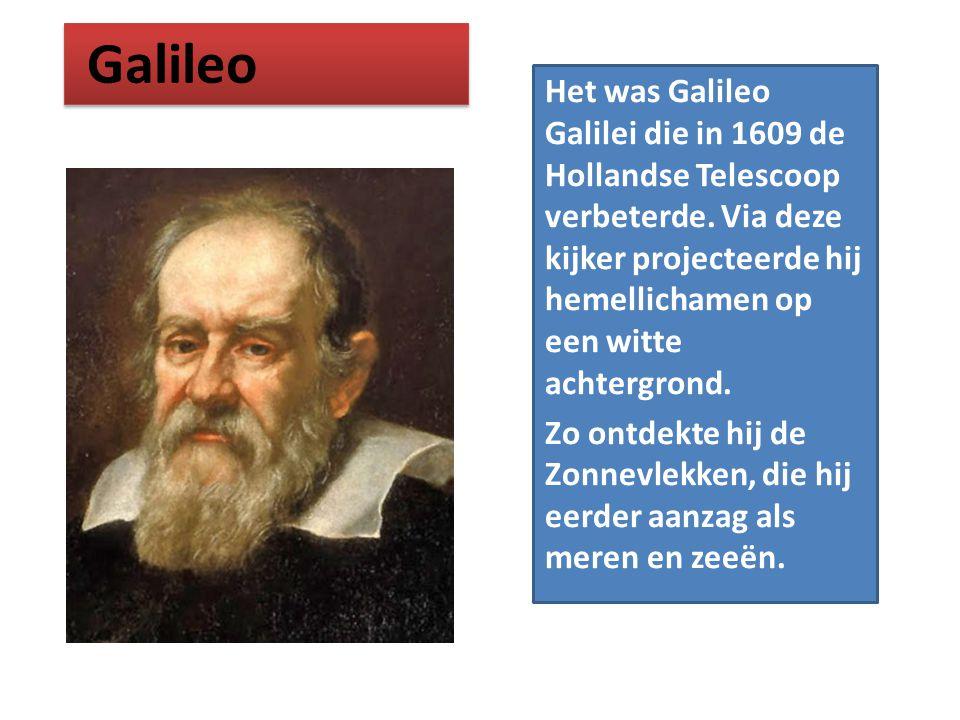 Het was Galileo Galilei die in 1609 de Hollandse Telescoop verbeterde. Via deze kijker projecteerde hij hemellichamen op een witte achtergrond. Zo ont