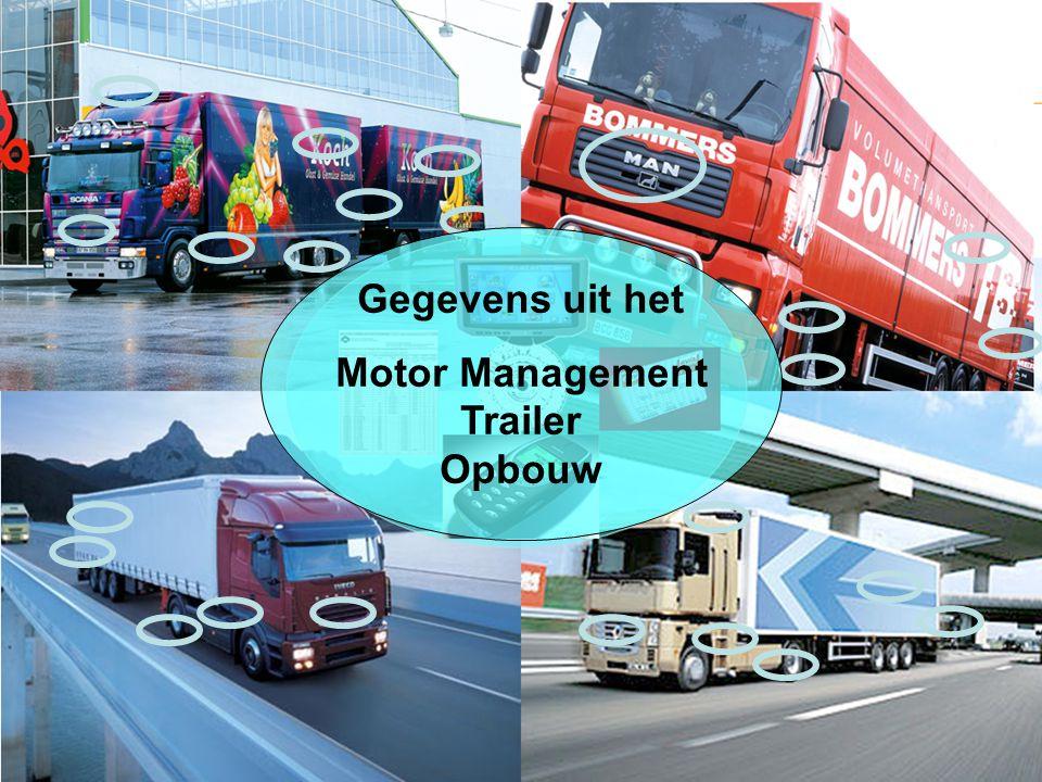 Gegevens uit het Motor Management Trailer Opbouw