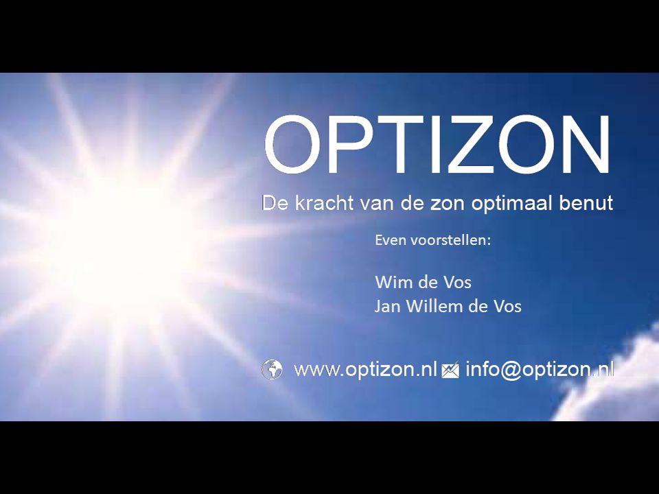 Even voorstellen: Wim de Vos Jan Willem de Vos
