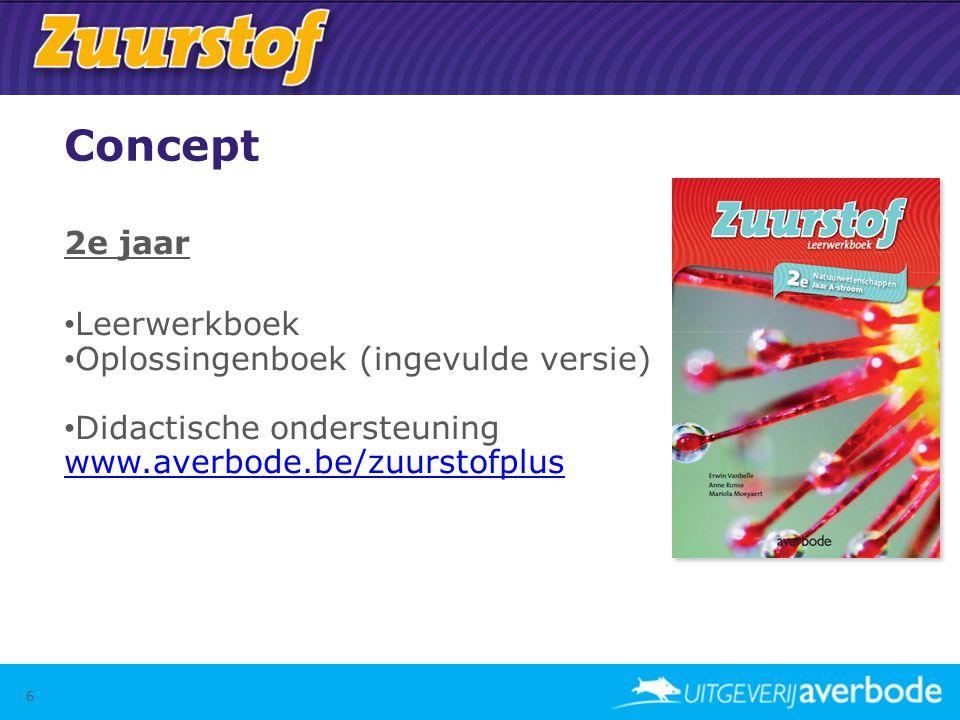 Concept 2e jaar • Leerwerkboek • Oplossingenboek (ingevulde versie) • Didactische ondersteuning www.averbode.be/zuurstofplus www.averbode.be/zuurstofp