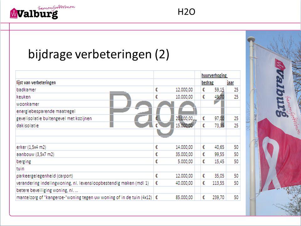 H2O bijdrage verbeteringen (2)