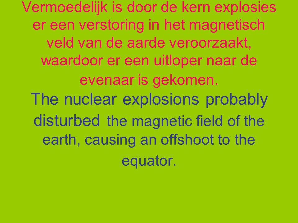 Het opwarmen van het noordelijke deel van de aarde is vermoedelijk veroorzaakt door de ondergrondse kernproeven in Azië.