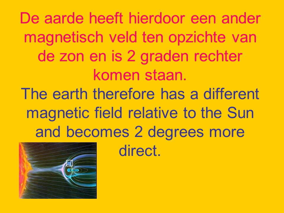 Vermoedelijk is door de kern explosies er een verstoring in het magnetisch veld van de aarde veroorzaakt, waardoor er een uitloper naar de evenaar is gekomen.