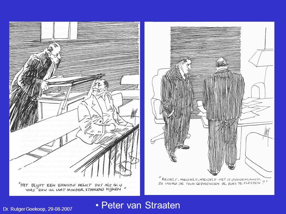 • Peter van Straaten Dr. Rutger Goekoop, 29-08-2007