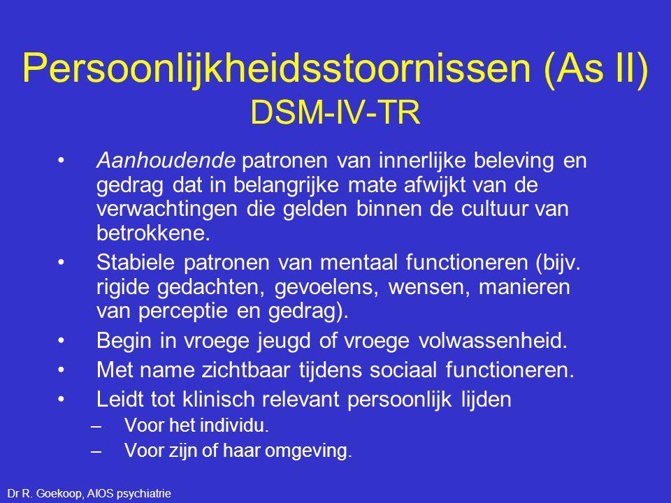 Autonome ontregeling Remming Individu 1 Individu 2 Boosheid Neuroticisme / harm avoidance = Trait-variant van multipele states.