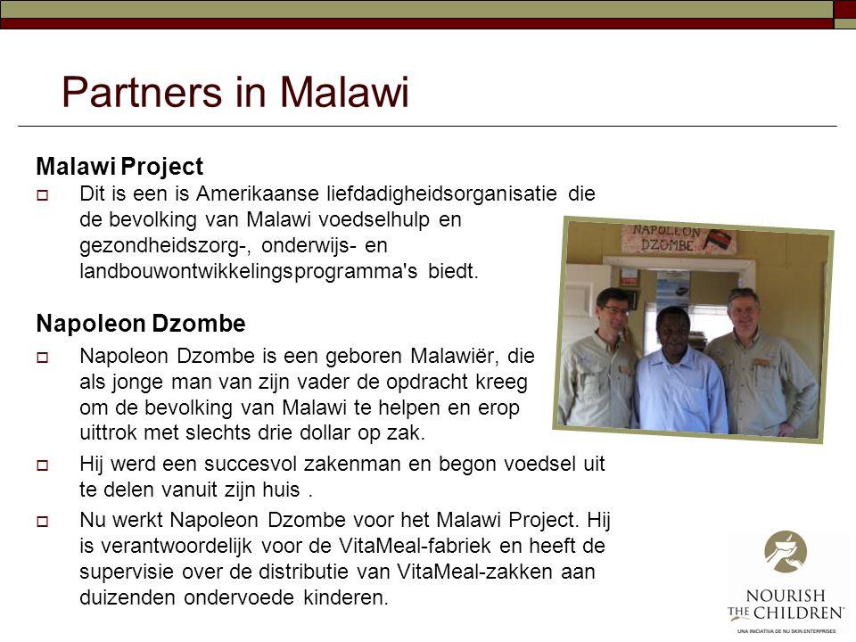 Partners in Malawi Malawi Project  Dit is een is Amerikaanse liefdadigheidsorganisatie die de bevolking van Malawi voedselhulp en gezondheidszorg-, o