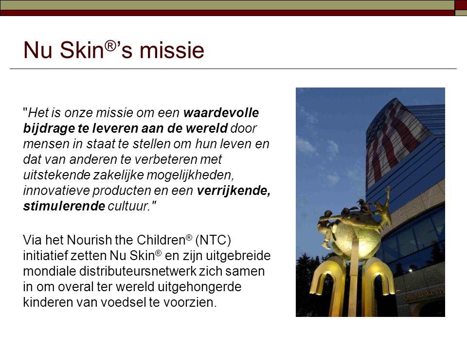 Bijdrage van Nu Skin ® Distributeurs in 2011  In 2011 hebben NTC-donateurs meer dan 35 miljoen maaltijden verstrekt aan ondervoede kinderen.