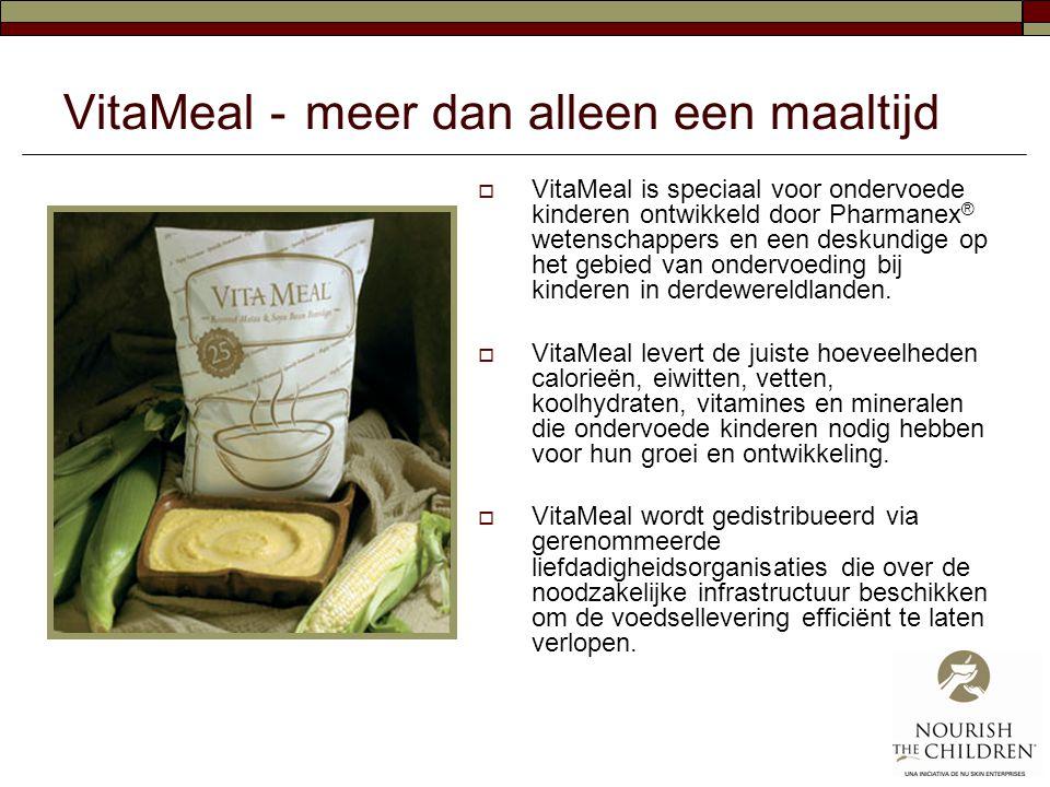 VitaMeal - meer dan alleen een maaltijd  VitaMeal is speciaal voor ondervoede kinderen ontwikkeld door Pharmanex ® wetenschappers en een deskundige o